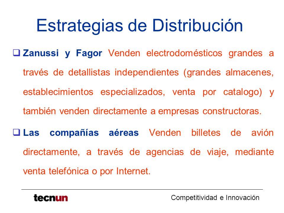 Competitividad e Innovación Estrategias de Distribución Zanussi y Fagor Venden electrodomésticos grandes a través de detallistas independientes (grand