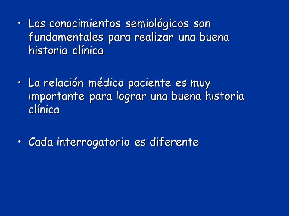 Los conocimientos semiológicos son fundamentales para realizar una buena historia clínicaLos conocimientos semiológicos son fundamentales para realiza