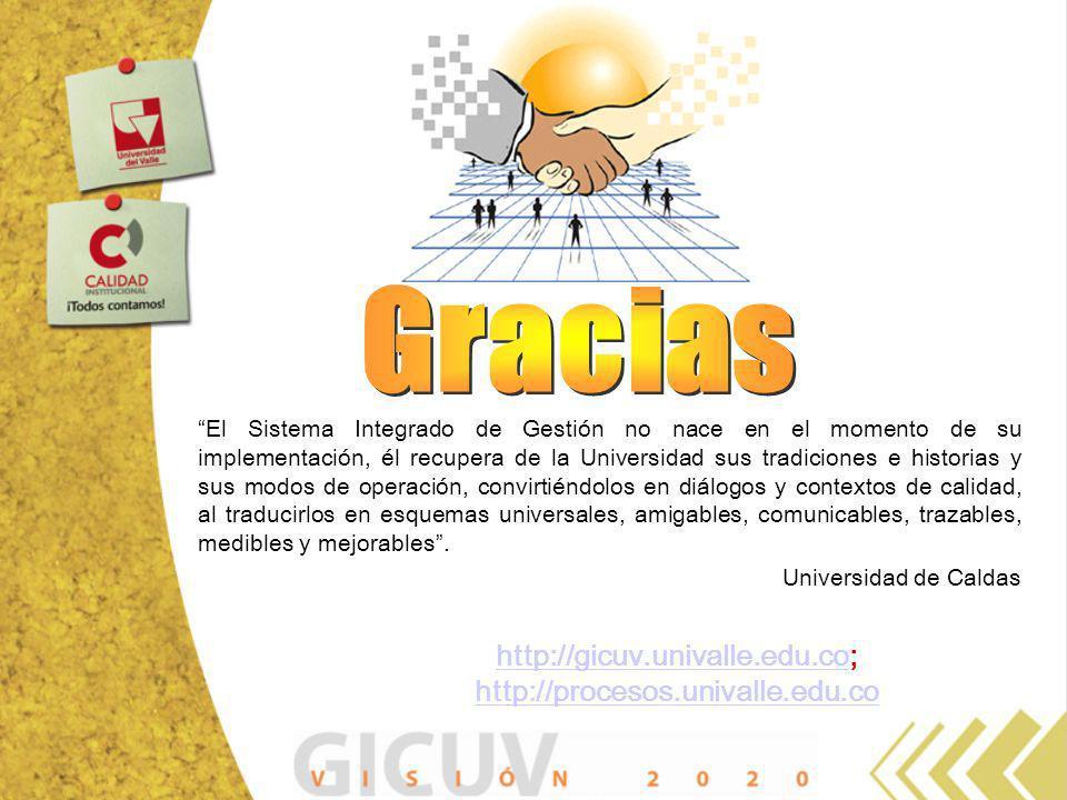 http://gicuv.univalle.edu.cohttp://gicuv.univalle.edu.co; http://procesos.univalle.edu.co http://procesos.univalle.edu.co El Sistema Integrado de Gest