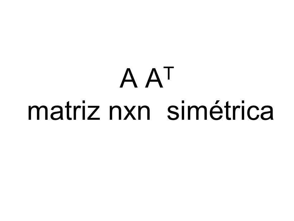 A A T matriz nxn simétrica