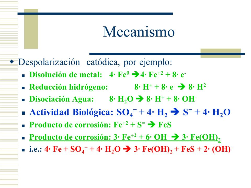 Diversos mecanismos Inducción de celdas de aireación diferenciada Destrucción de pinturas u otros remedios Consumo de reguladores de inhibición Consum