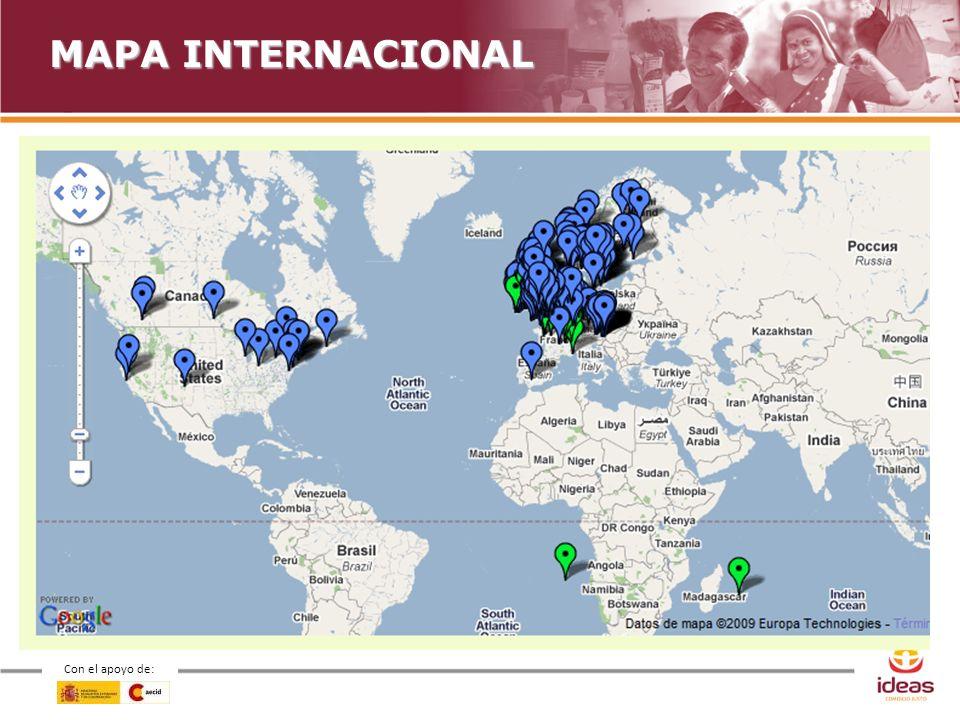 Con el apoyo de: MAPA INTERNACIONAL