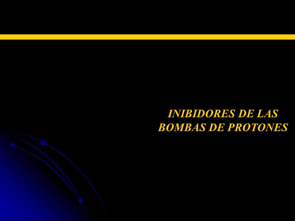 TERAPIA FARMACOLÓGICA INIBIDORES DE LAS BOMBAS DE PROTONES