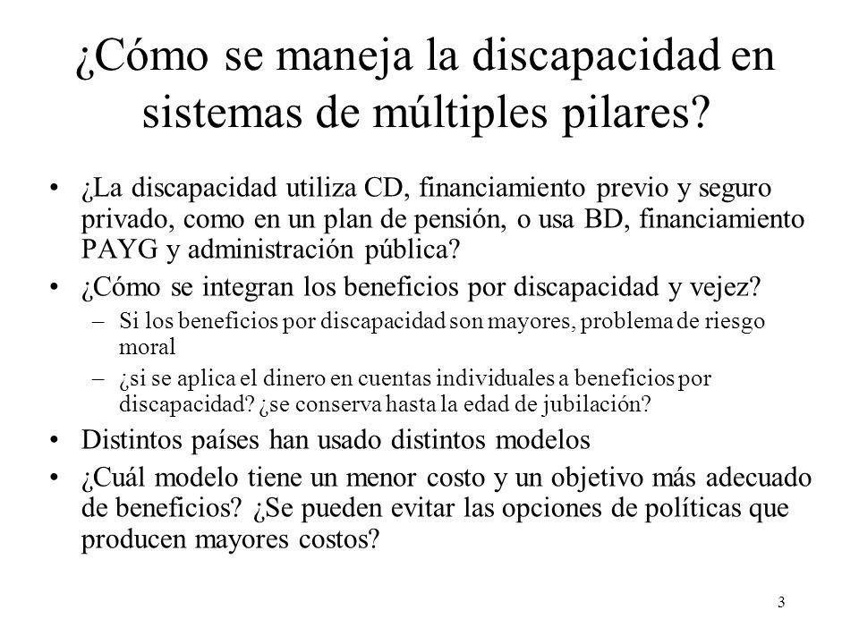 3 ¿Cómo se maneja la discapacidad en sistemas de múltiples pilares.