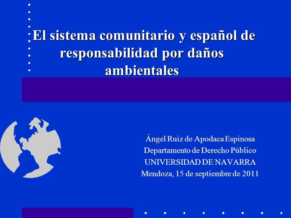 Introducción Riesgo ambiental-Quien contamina paga Directiva 2004/35/CE.