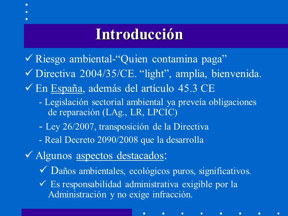 CLASES DE MEDIDAS Preventivas Preventivas (caso de amenaza inminente de daño) evitación De evitación de nuevos daños.