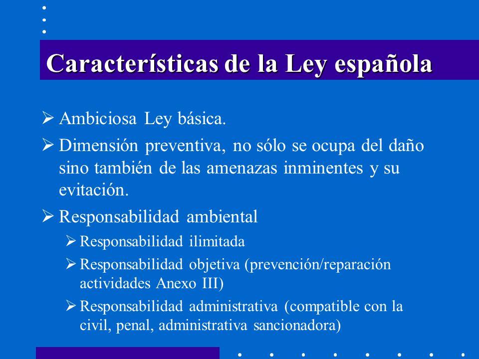 GARANTÍA PREVISTA EN LA LEY Obligatoriedad: Actividades del Anexo III (las de mayor potencial contaminante) 30 de abril 2010 (1783/2011, de 22 de junio) Orden ministerial a partir de 30 de abril 2010 (1783/2011, de 22 de junio) sobre la base del Informe de la Comisión Europea (12.10.2010) Cantidad garantizada.
