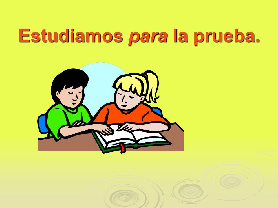 Estudiamos para la prueba.