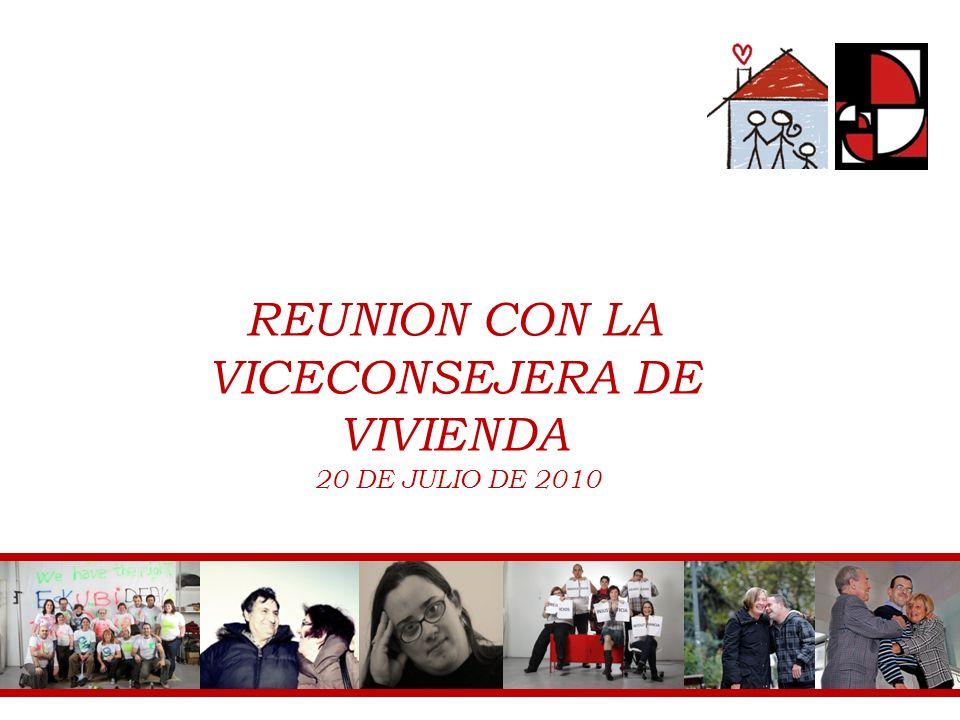 REUNION CON LA VICECONSEJERA DE VIVIENDA 20 DE JULIO DE 2010 1 FEVAS