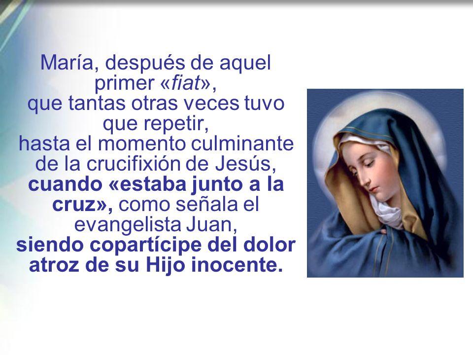 Emblemática respuesta humana, llena de confianza en la iniciativa de Dios, es el «Amén» generoso y total de la Virgen de Nazaret, pronunciado con humi
