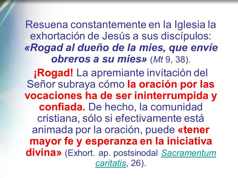 Una vez más, Jesús es el modelo ejemplar de adhesión total y confiada a la voluntad del Padre, al que toda persona consagrada ha de mirar.