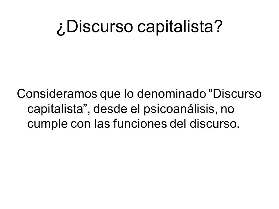¿Discurso capitalista.