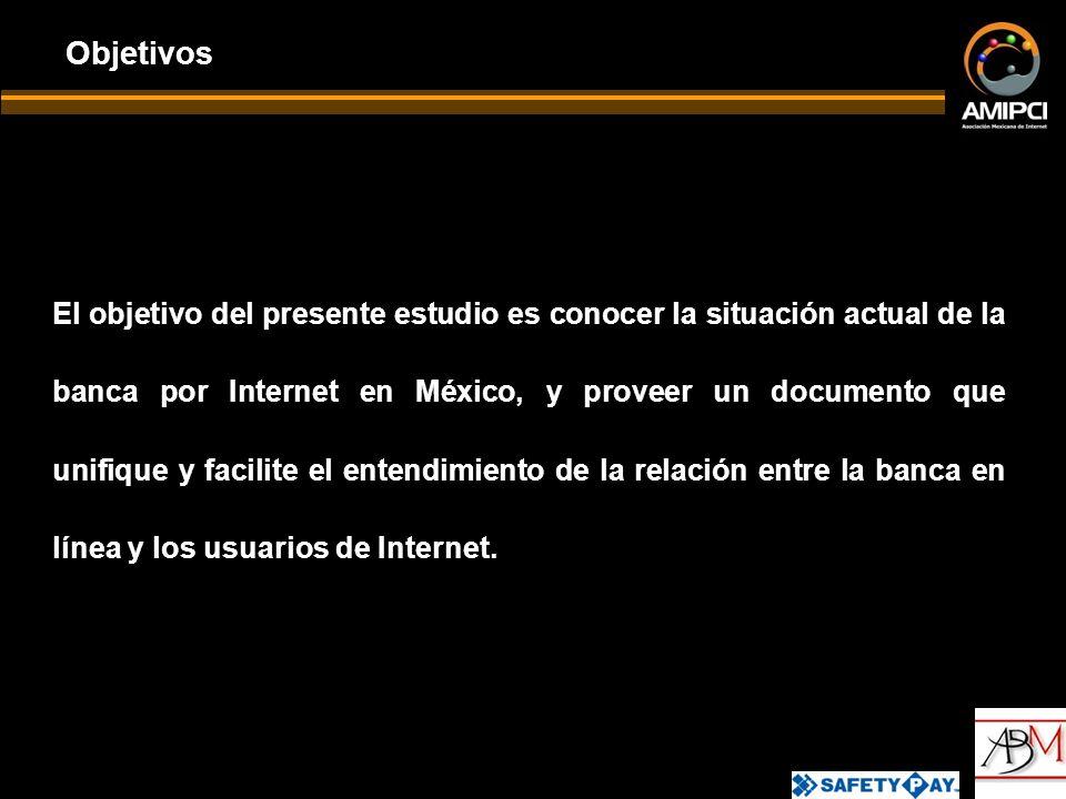 El objetivo del presente estudio es conocer la situación actual de la banca por Internet en México, y proveer un documento que unifique y facilite el entendimiento de la relación entre la banca en línea y los usuarios de Internet.