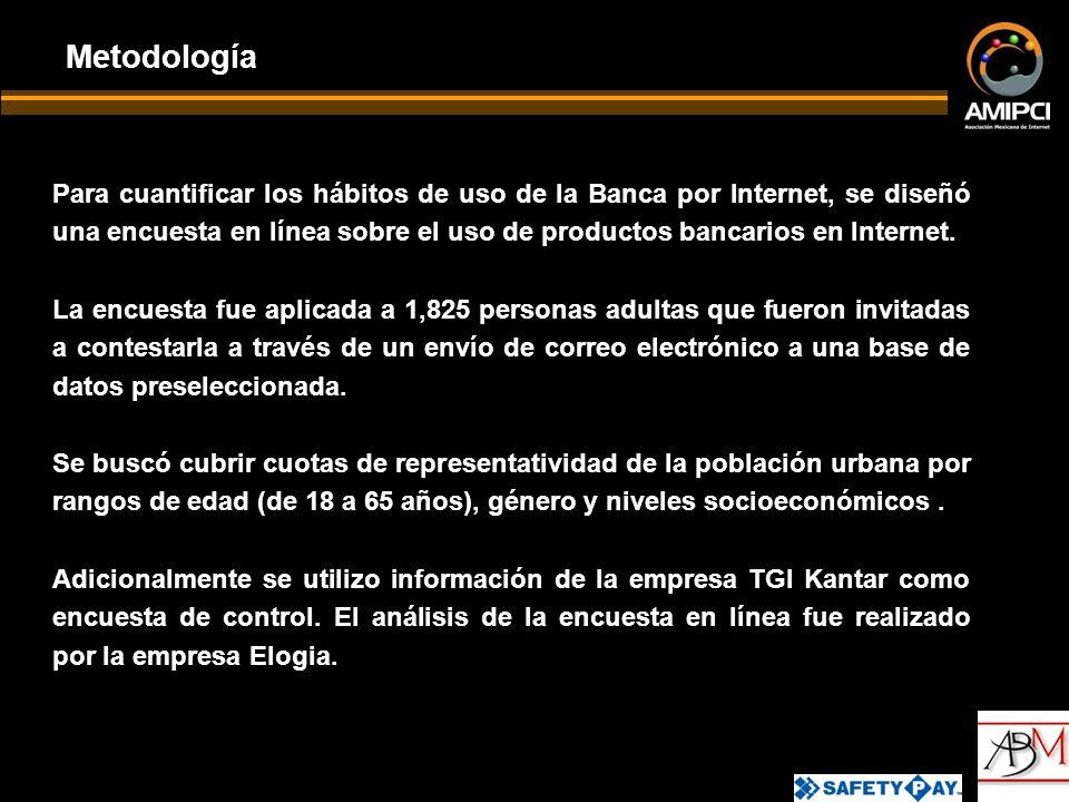 Para cuantificar los hábitos de uso de la Banca por Internet, se diseñó una encuesta en línea sobre el uso de productos bancarios en Internet.