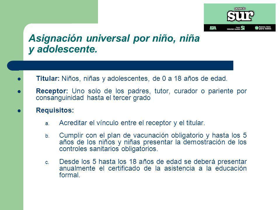 Asignación universal por persona con discapacidad.