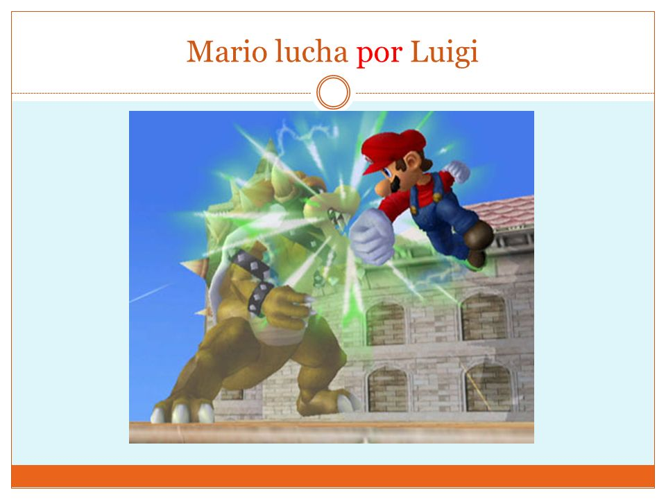 Mario lucha por Luigi