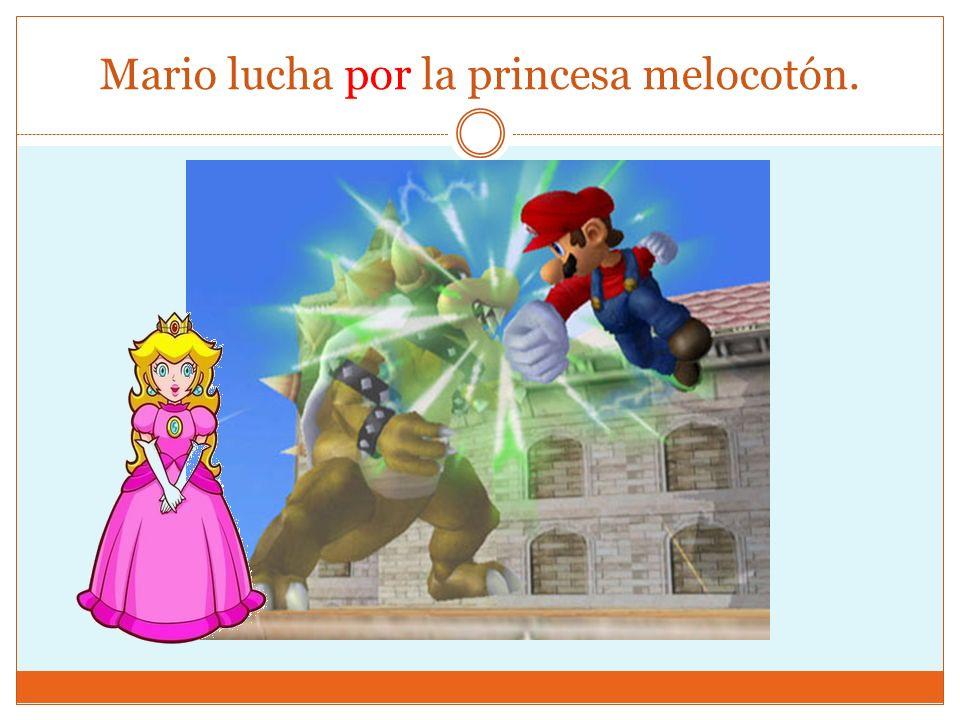 Mario lucha por la princesa melocotón.