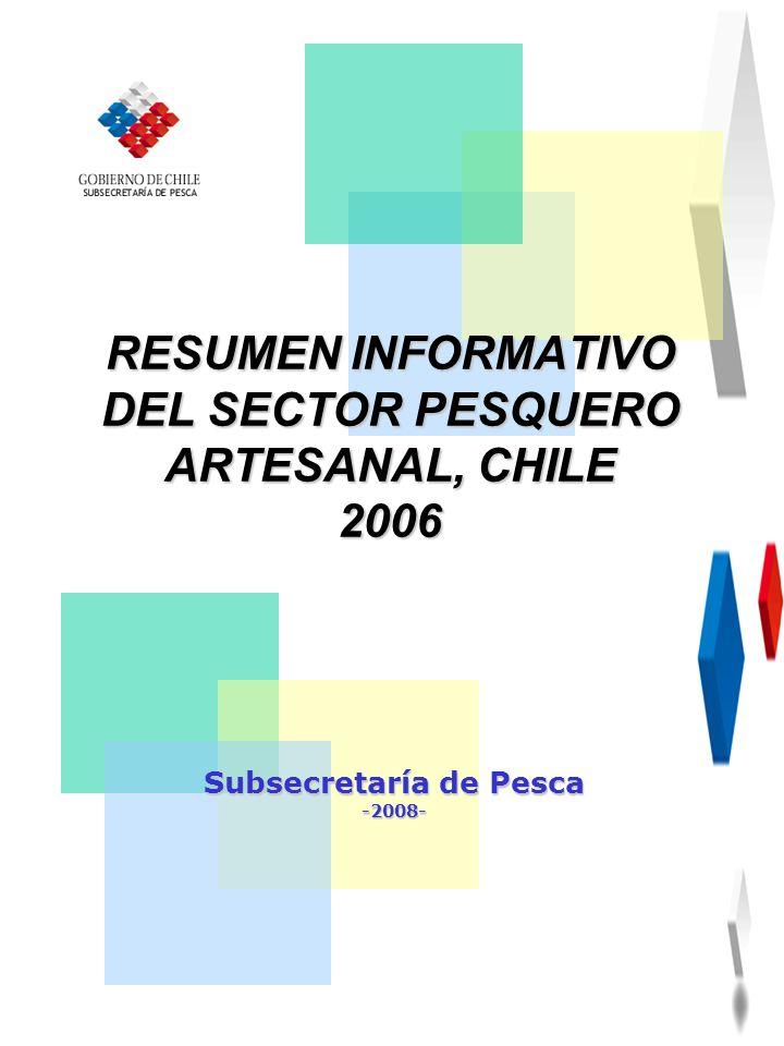 RESUMEN INFORMATIVO DEL SECTOR PESQUERO ARTESANAL, CHILE 2006 Subsecretaría de Pesca -2008-