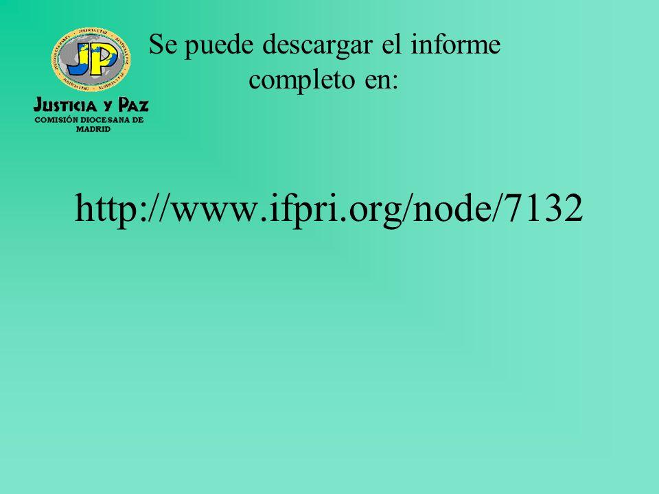 http://www.ifpri.org/node/7132 Se puede descargar el informe completo en: