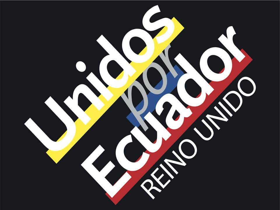 Unidos por Ecuador La ayuda de los ecuatorianos residentes en el Reino Unido llegó a los afectados de la costa ecuatoriana, la entrega consistió en kits de protección para 100 familias del cantón Naranjal.