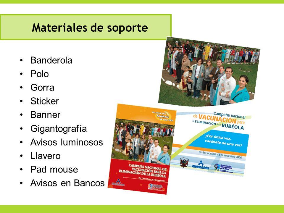 Banderola Polo Gorra Sticker Banner Gigantografía Avisos luminosos Llavero Pad mouse Avisos en Bancos Materiales de soporte