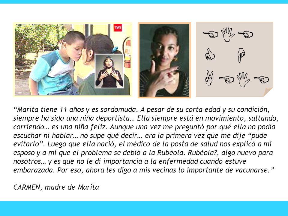 Marita tiene 11 años y es sordomuda. A pesar de su corta edad y su condición, siempre ha sido una niña deportista… Ella siempre está en movimiento, sa