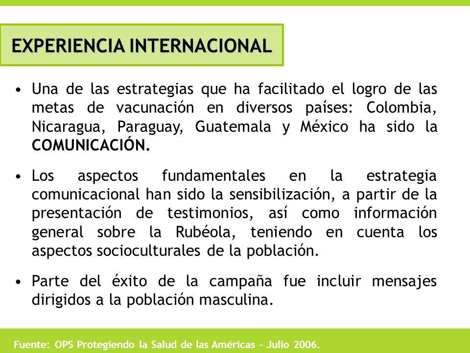 Una de las estrategias que ha facilitado el logro de las metas de vacunación en diversos países: Colombia, Nicaragua, Paraguay, Guatemala y México ha