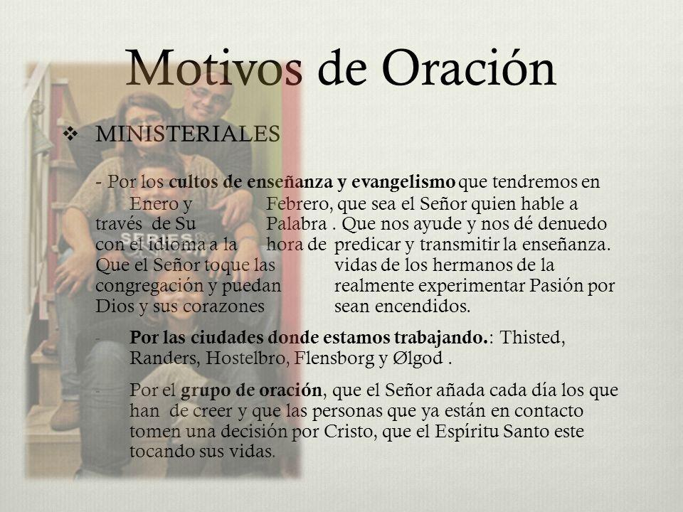 Motivos de Oración MINISTERIALES - Por los cultos de enseñanza y evangelismo que tendremos en Enero y Febrero, que sea el Señor quien hable a través d