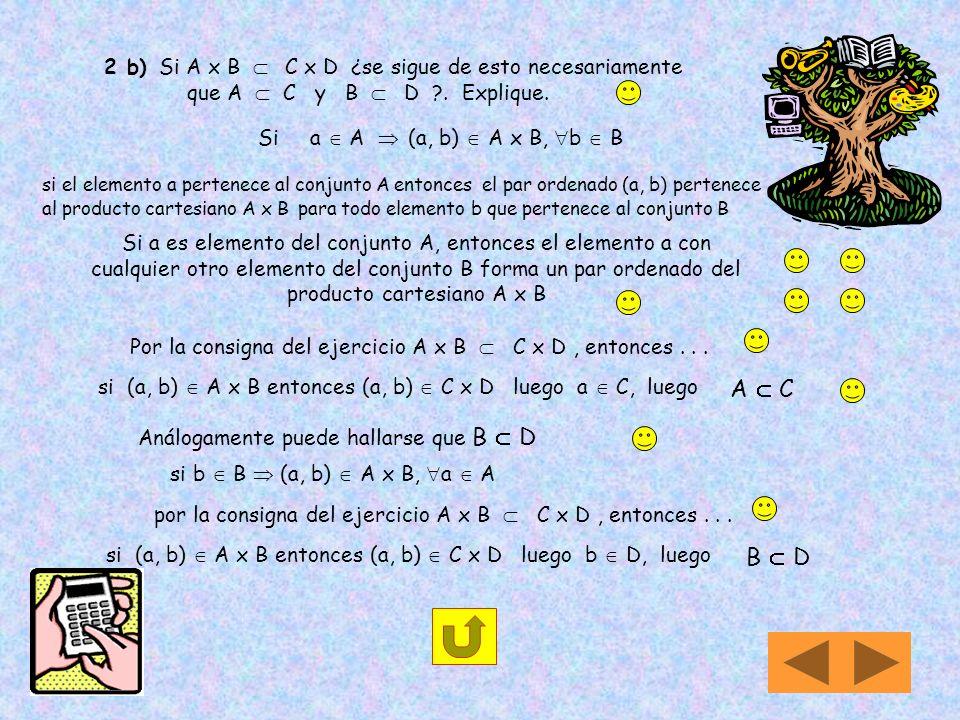 1) Si A = { 1, 2 } Recuerda que cada uno de los subconjuntos posibles formados con los elementos del conjunto A, es un elemento de P(A) P(A) xA = { (,