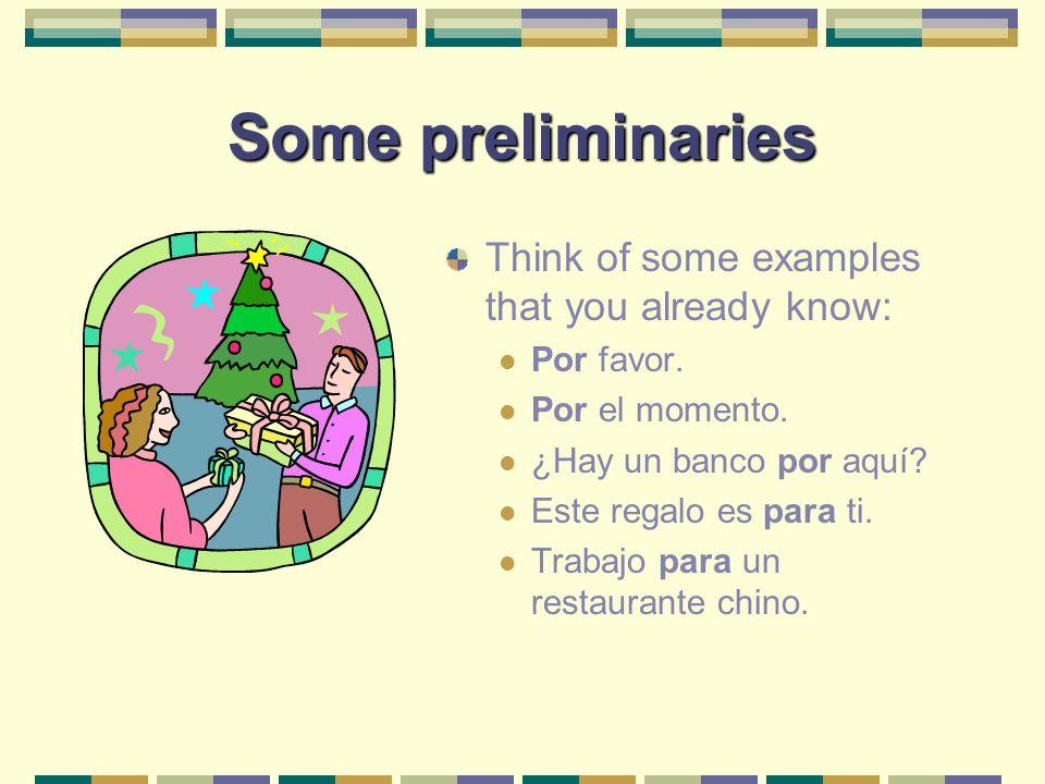What about por.Essentially, por is used in all instances when P.E.R.F.E.C.T.