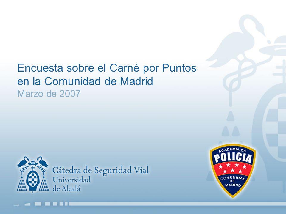 Encuesta sobre el Carné por Puntos en la Comunidad de Madrid Marzo de 2007