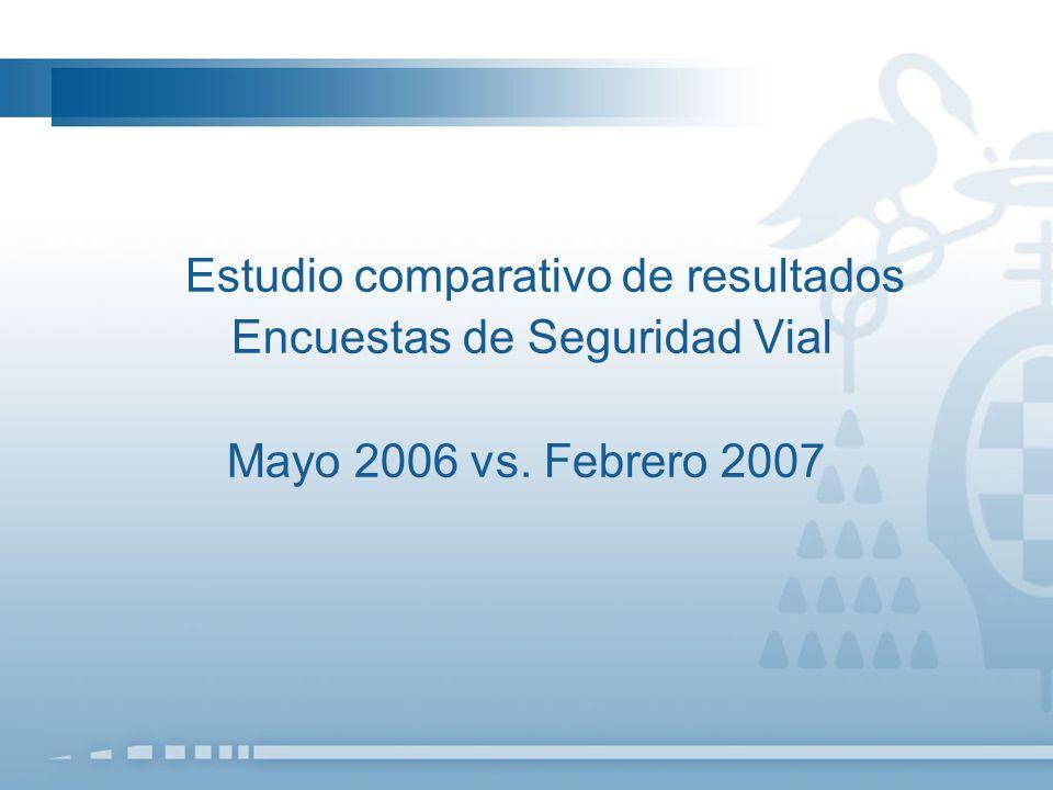 Estudio comparativo de resultados Encuestas de Seguridad Vial Mayo 2006 vs. Febrero 2007