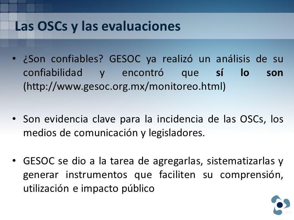 Las OSCs y las evaluaciones ¿Son confiables.