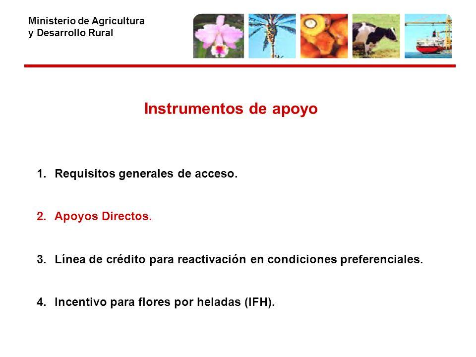 Ministerio de Agricultura y Desarrollo Rural Instrumentos de apoyo 1.Requisitos generales de acceso.