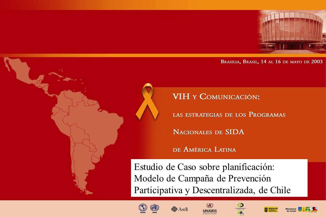 Estudio de Caso sobre planificación: Modelo de Campaña de Prevención Participativa y Descentralizada, de Chile
