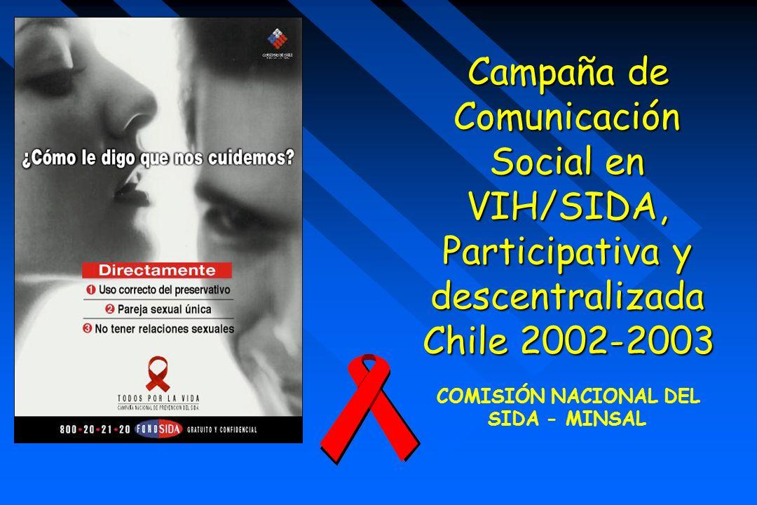 Campaña de Comunicación Social en VIH/SIDA, Participativa y descentralizada Chile 2002-2003 COMISIÓN NACIONAL DEL SIDA - MINSAL