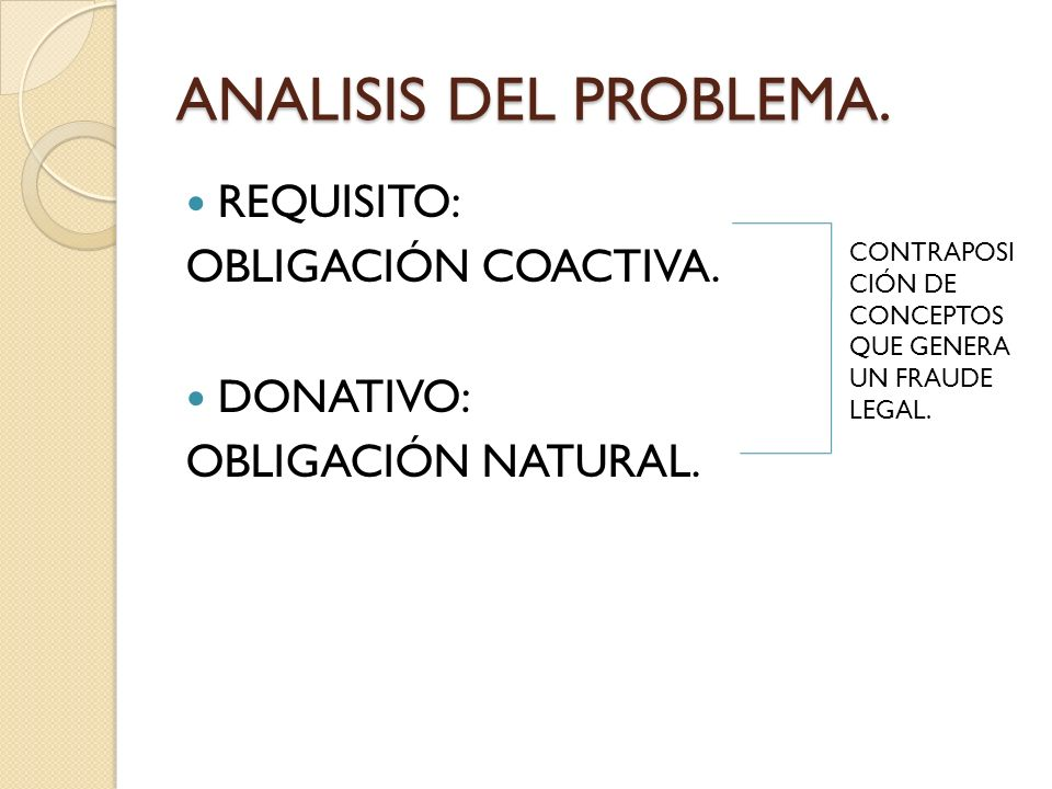 ANALISIS DEL PROBLEMA.REQUISITO: OBLIGACIÓN COACTIVA.