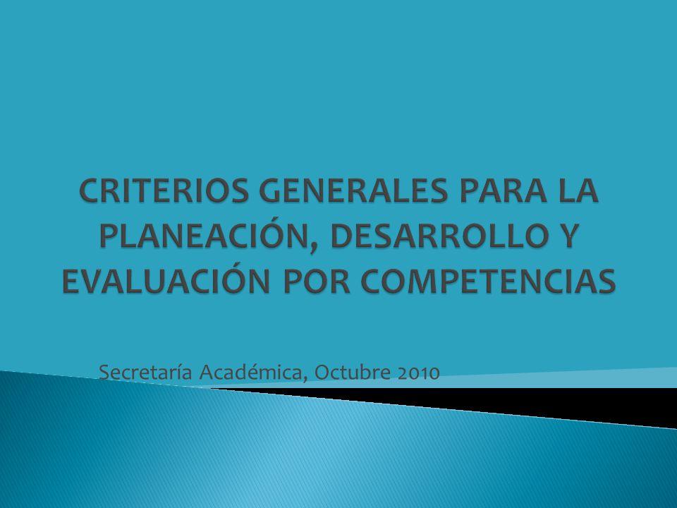 Secretaría Académica, Octubre 2010
