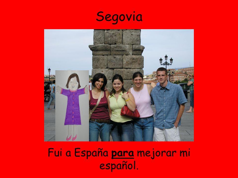 Segovia Fui a España para mejorar mi español.