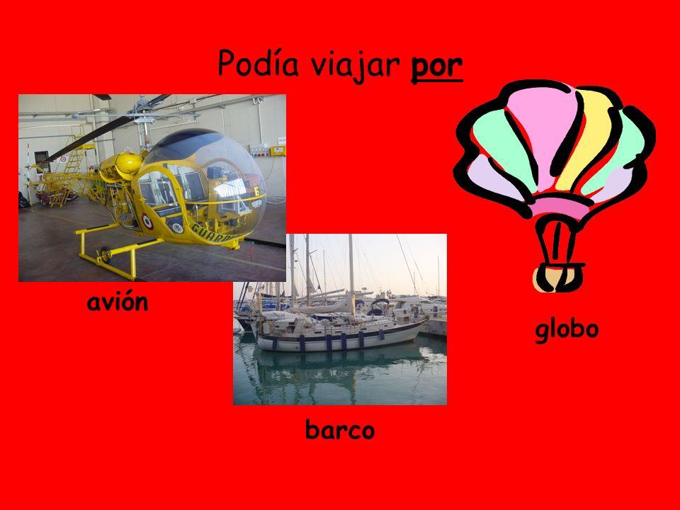 Podía viajar por avión barco globo