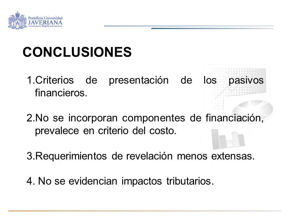 Diplomado Normas internacionales de información financiera / Módulo IAS 32, IAS 39, IFRS 7, IFRS 9/ Martha Liliana Arias Bello CONCLUSIONES 1.Criterio