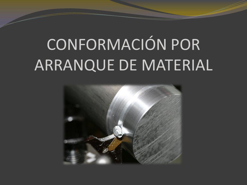 GENERALIDADES Conformación por arranque de material significa quitar el material sobrante en forma de virutas y así obtener la pieza deseada conforme al plano.