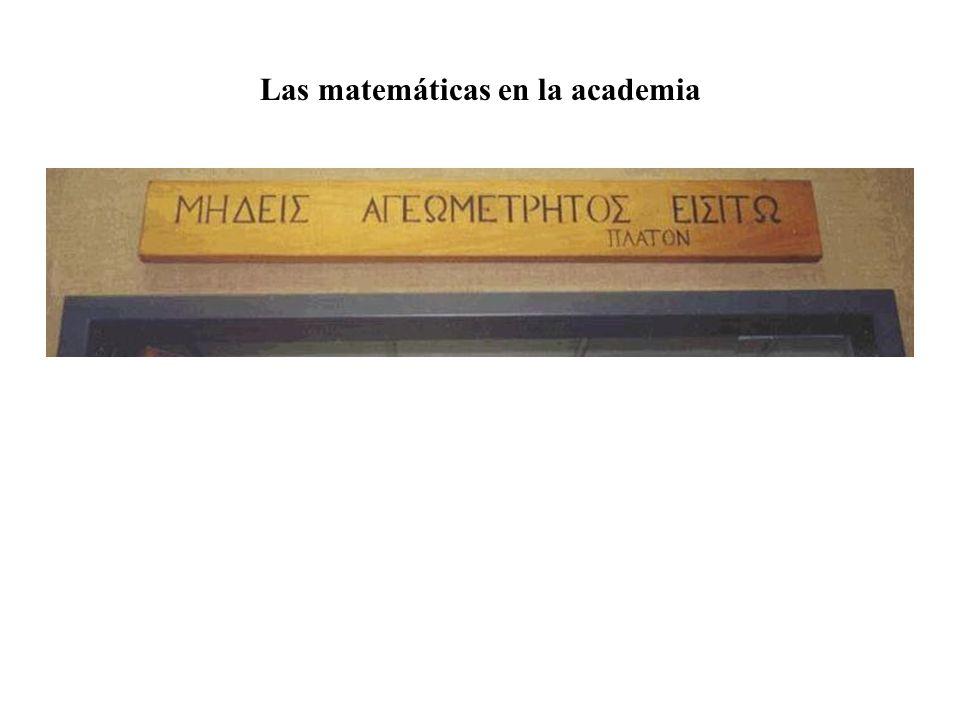 Las matemáticas en la escuela