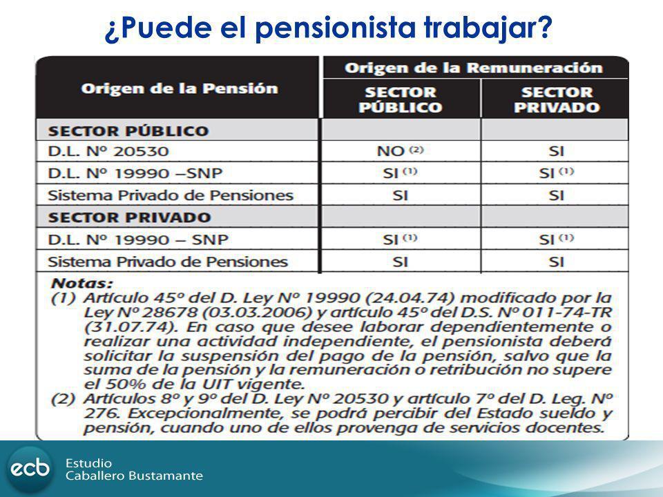 ¿Puede el pensionista trabajar?