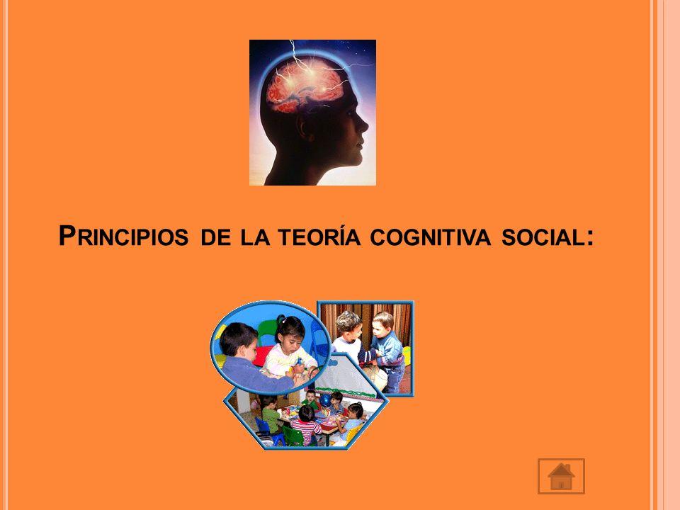 P RINCIPIOS DE LA TEORÍA COGNITIVA SOCIAL :