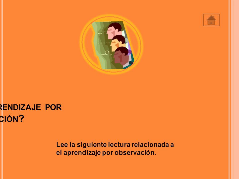 3.Según Bandura, el único requisito para el aprendizaje puede ser: A.