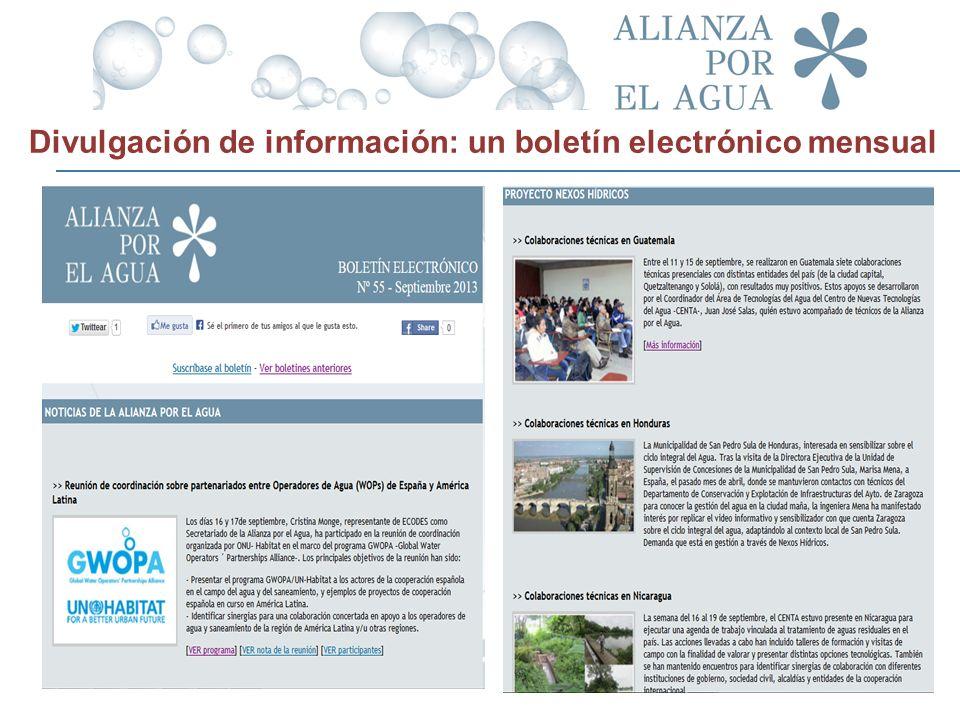 Divulgación de información: un boletín electrónico mensual