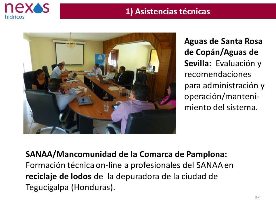 36 1) Asistencias técnicas SANAA/Mancomunidad de la Comarca de Pamplona: Formación técnica on-line a profesionales del SANAA en reciclaje de lodos de