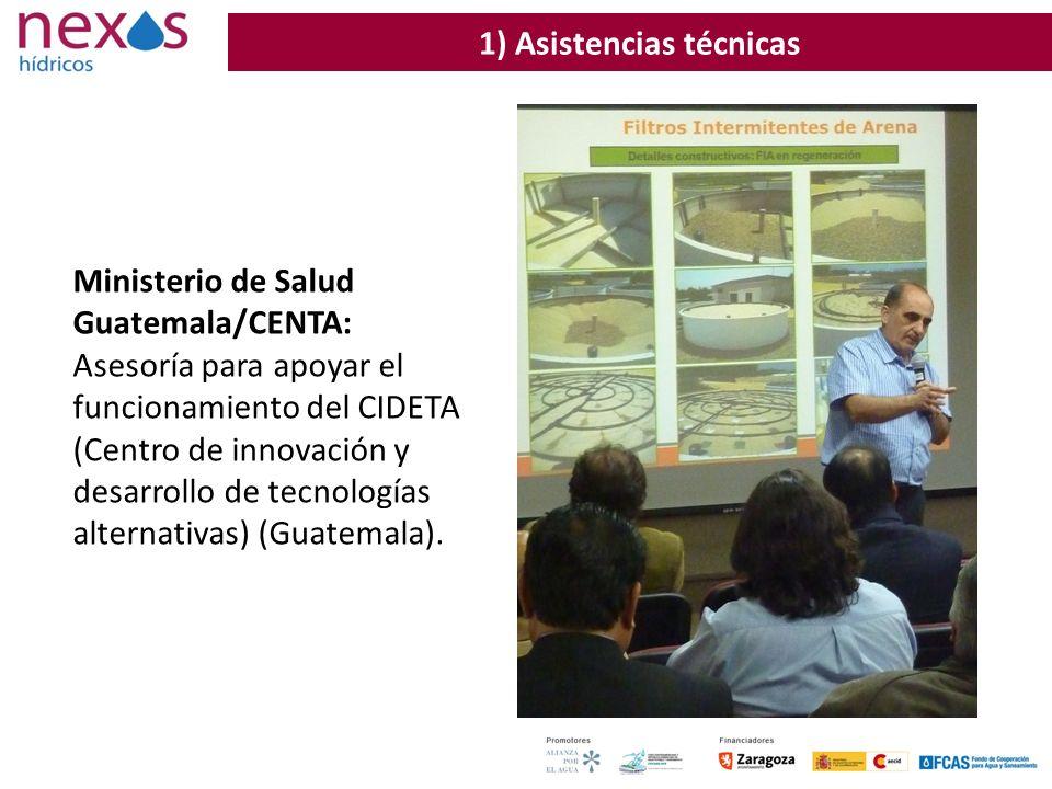 37 Ministerio de Salud Guatemala/CENTA: Asesoría para apoyar el funcionamiento del CIDETA (Centro de innovación y desarrollo de tecnologías alternativ
