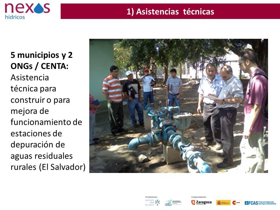 38 5 municipios y 2 ONGs / CENTA: Asistencia técnica para construir o para mejora de funcionamiento de estaciones de depuración de aguas residuales ru
